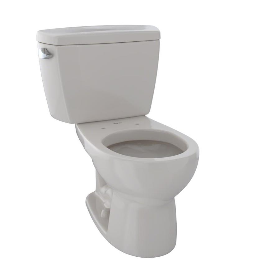 TOTO Drake Sedona Beige 1.6-GPF (6.06-LPF) 12 Rough-In Round 2-Piece Standard Height Toilet