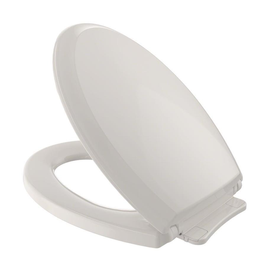 TOTO Guinevere Sedona Beige Plastic Elongated Slow Close Feature Toilet Seat