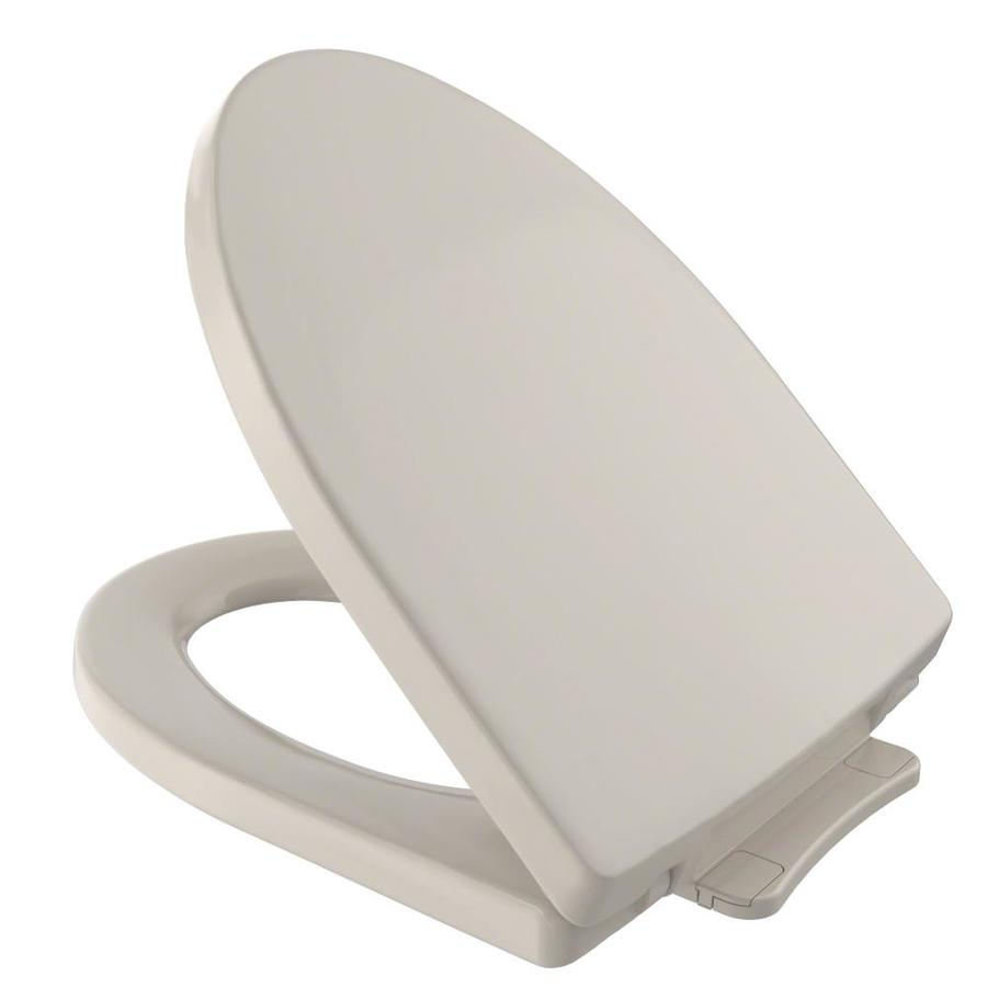 TOTO Soiree Bone Plastic Elongated Slow Close Feature Toilet Seat