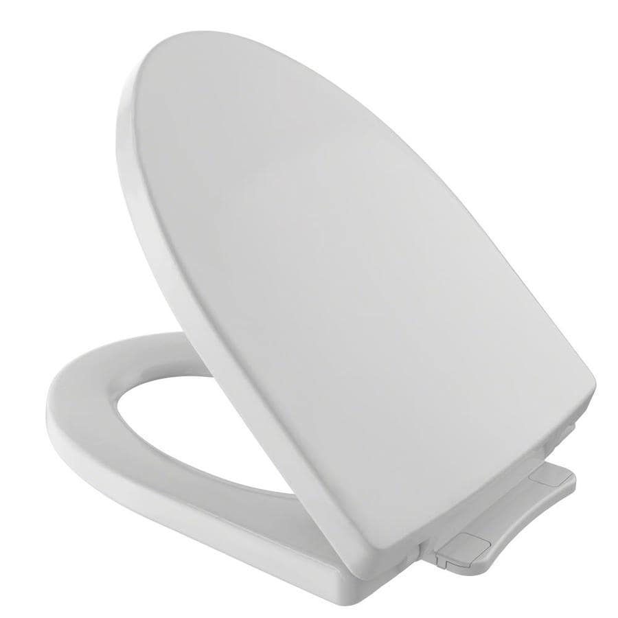 TOTO Soiree Colonial White Plastic Elongated Slow Close Feature Toilet Seat