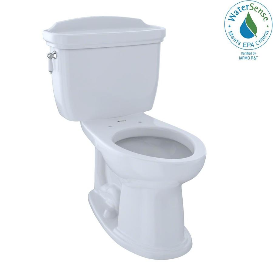 TOTO Eco Dartmouth Cotton White 1.28-GPF (4.85-LPF) 12 Rough-In WaterSense Elongated 2-Piece Chair Height Toilet