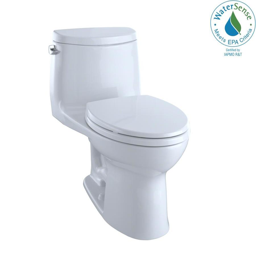 TOTO Ultramax II Cotton White 1.28-GPF (4.85-LPF) 12 Rough-In WaterSense Elongated 1-Piece Chair Height Toilet