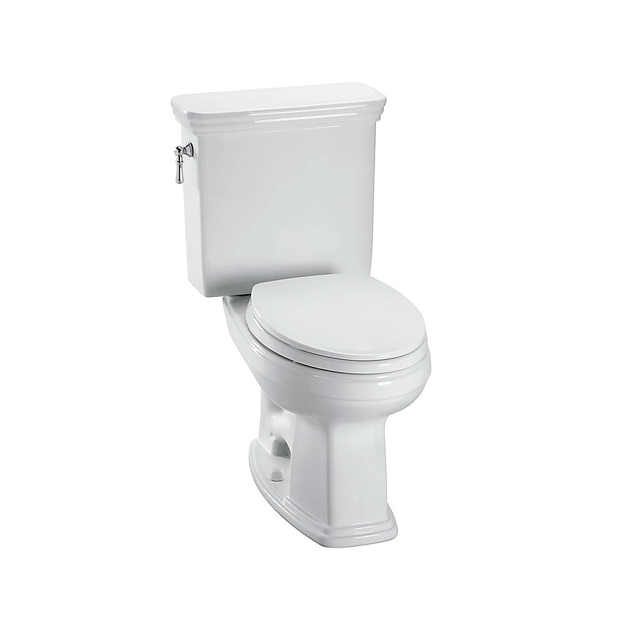 TOTO Promenade Cotton White 1.28-GPF (4.85-LPF) 12 Rough-In WaterSense Elongated 2-Piece Chair Height Toilet