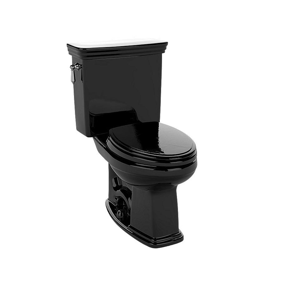 TOTO Promenade Ebony 1.28-GPF (4.85-LPF) 12 Rough-In WaterSense Elongated 2-Piece Chair Height Toilet
