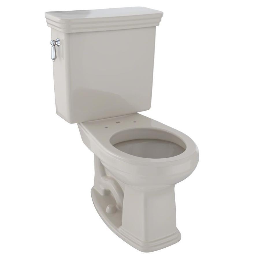 TOTO Promenade Bone 1.6-GPF (6.06-LPF) 12 Rough-In Round 2-Piece Chair Height Toilet