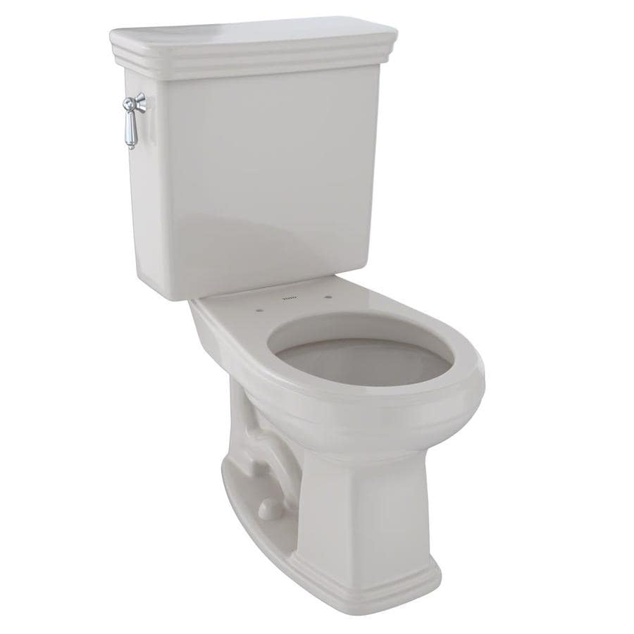 TOTO Promenade Sedona Beige 1.6-GPF (6.06-LPF) 12 Rough-In Round 2-Piece Chair Height Toilet
