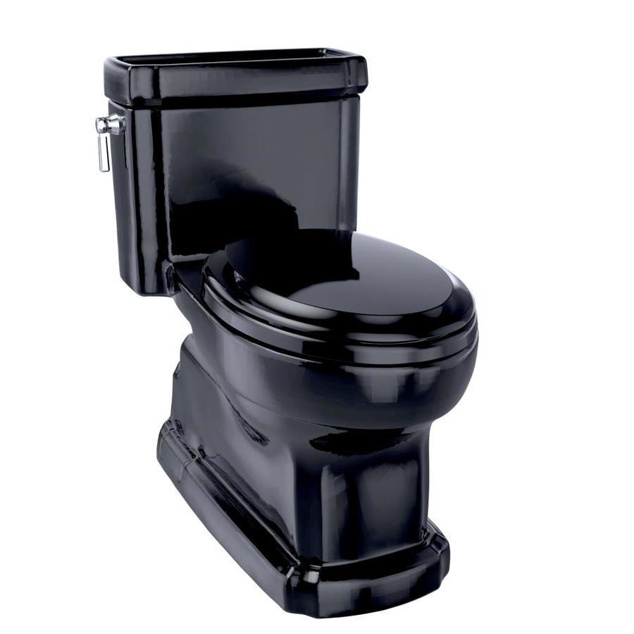 TOTO Eco Guinevere Ebony 1.28-GPF (4.85-LPF) 12 Rough-In WaterSense Elongated 1-Piece Chair Height Toilet