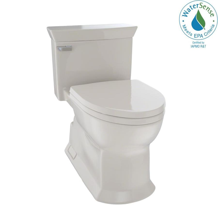 TOTO Eco Soiree Bone 1.28-GPF (4.85-LPF) 12 Rough-In WaterSense Elongated 1-Piece Chair Height Toilet