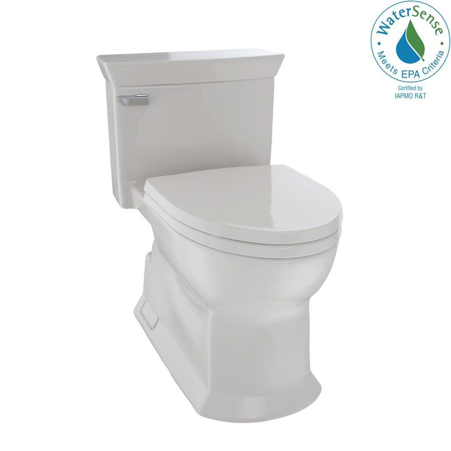 TOTO Eco Soiree Sedona Beige 1.28-GPF (4.85-LPF) 12 Rough-In WaterSense Elongated 1-Piece Chair Height Toilet