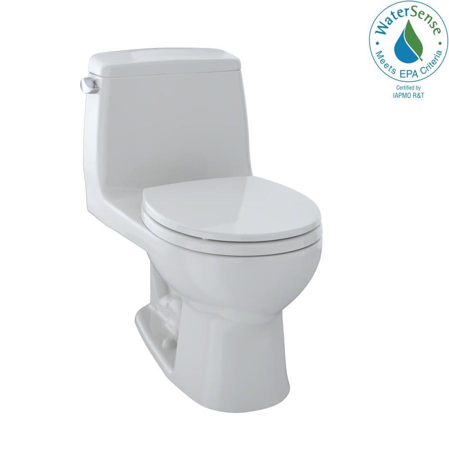 TOTO Eco Ultramax Colonial White 1.28-GPF (4.85-LPF) 12 Rough-In WaterSense Round 1-Piece Standard Height Toilet