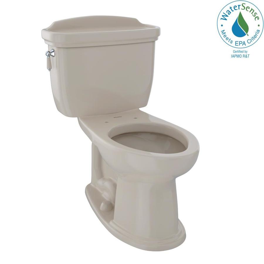 TOTO Eco Dartmouth Bone 1.28-GPF (4.85-LPF) 12 Rough-In WaterSense Elongated 2-Piece Chair Height Toilet