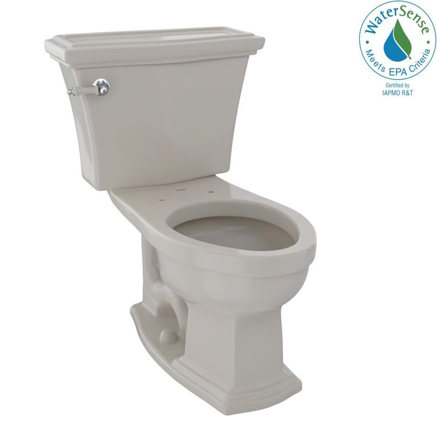 TOTO Eco Clayton Bone 1.28-GPF (4.85-LPF) 12 Rough-In WaterSense Elongated 2-Piece Chair Height Toilet