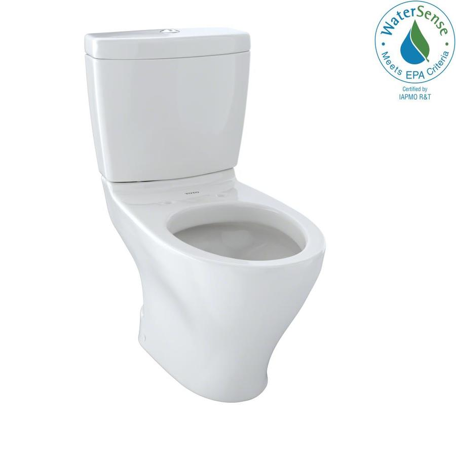TOTO Aquia Colonial White 1.6; 0.9-GPF 12 Rough-In WaterSense Elongated Dual-Flush 2-Piece Chair Height Toilet