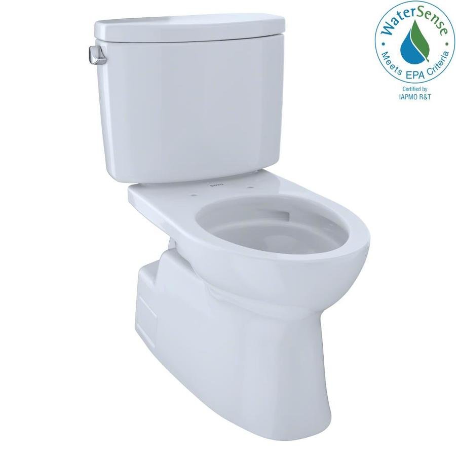 TOTO Vespin II Cotton White 1.28-GPF (4.85-LPF) 12 Rough-In WaterSense Elongated 2-Piece Chair Height Toilet
