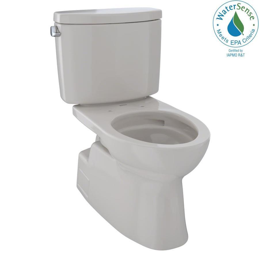 TOTO Vespin II Sedona Beige 1.28-GPF (4.85-LPF) 12 Rough-In WaterSense Elongated 2-Piece Chair Height Toilet