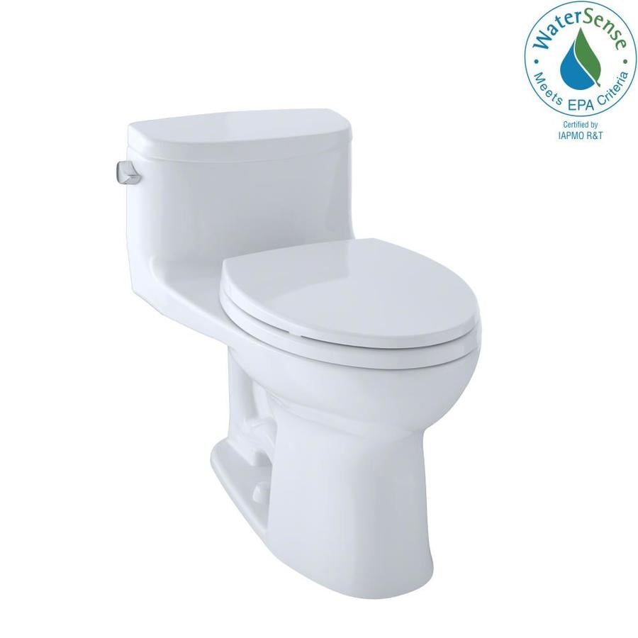 TOTO Supreme II Cotton White 1.28-GPF (4.85-LPF) 12 Rough-In WaterSense Elongated 1-Piece Chair Height Toilet