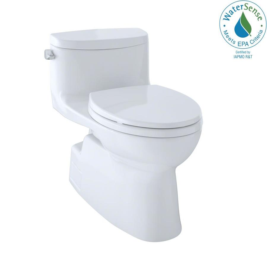 TOTO Carolina II Cotton White 1.28-GPF (4.85-LPF) 12 Rough-In WaterSense Elongated 1-Piece Chair Height Toilet