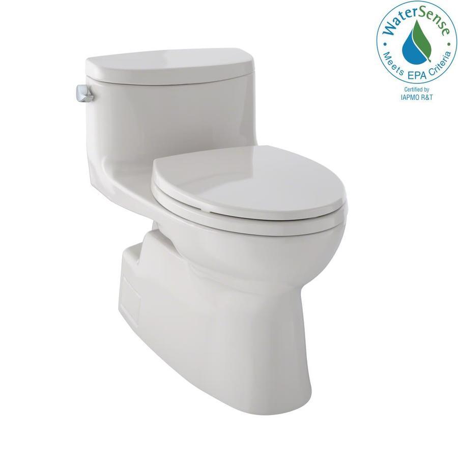 TOTO Carolina II Sedona Beige 1.28-GPF (4.85-LPF) 12 Rough-In WaterSense Elongated 1-Piece Chair Height Toilet