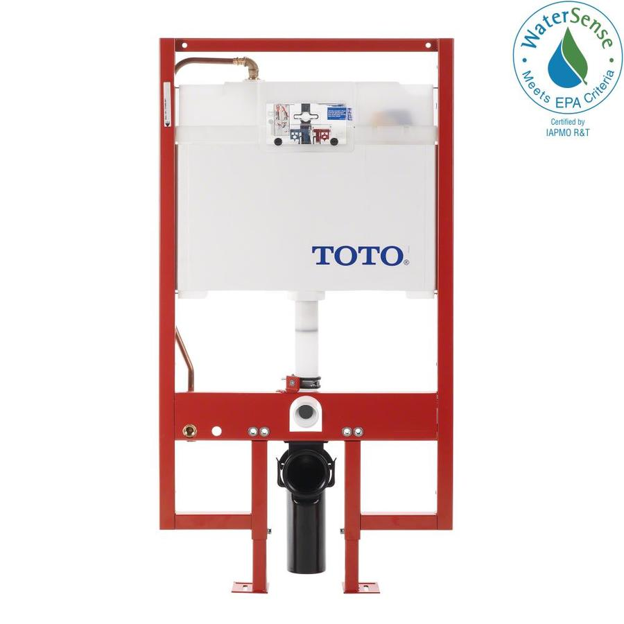 TOTO Cotton White 1.6; 0.9-GPF (6.06; 3.41-LPF) Wall-Hung Dual-Flush High-Efficiency Toilet Tank