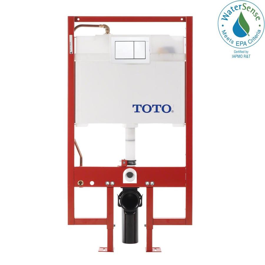 TOTO Cotton White 1.6; 0.9-GPF (6.06; 3.41-LPF) Wall-Hung Dual-Flush High-Efficiency Toilet Tank