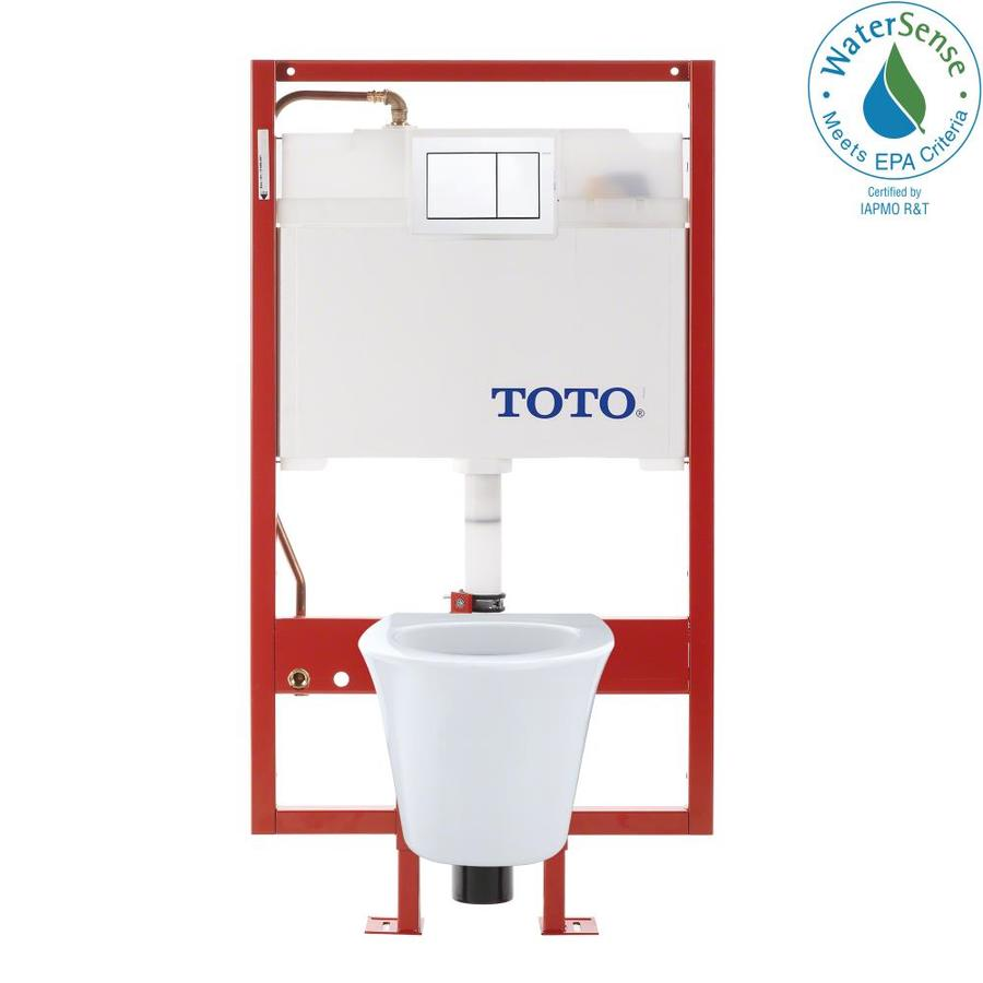 TOTO Maris Cotton White 1.6; 0.9-GPF Wall-Hung Rough-in WaterSense Elongated Dual-Flush 2-Piece Chair Height Rear Outlet Toilet