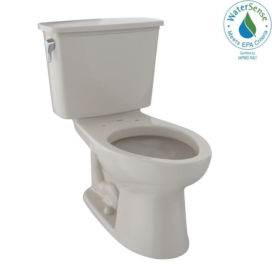 TOTO Eco Drake Bone 1.28-GPF (4.85-LPF) 12 Rough-In WaterSense Elongated 2-Piece Standard Height Toilet