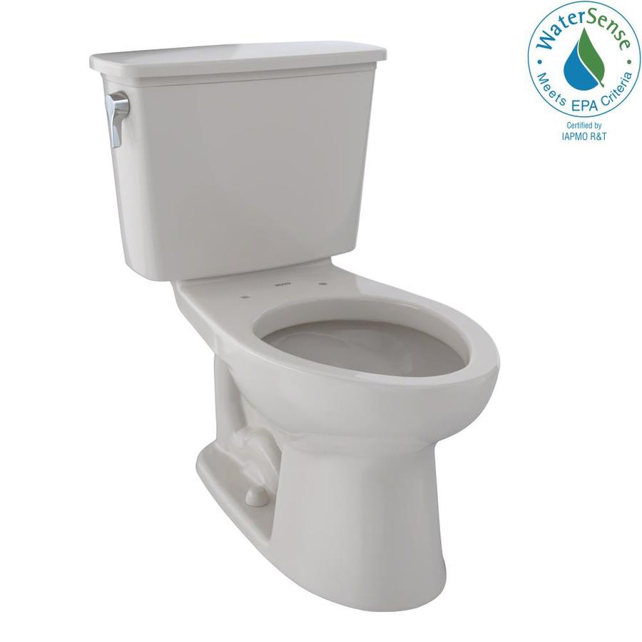 TOTO Eco Drake Sedona Beige 1.28-GPF (4.85-LPF) 12 Rough-In WaterSense Elongated 2-Piece Standard Height Toilet