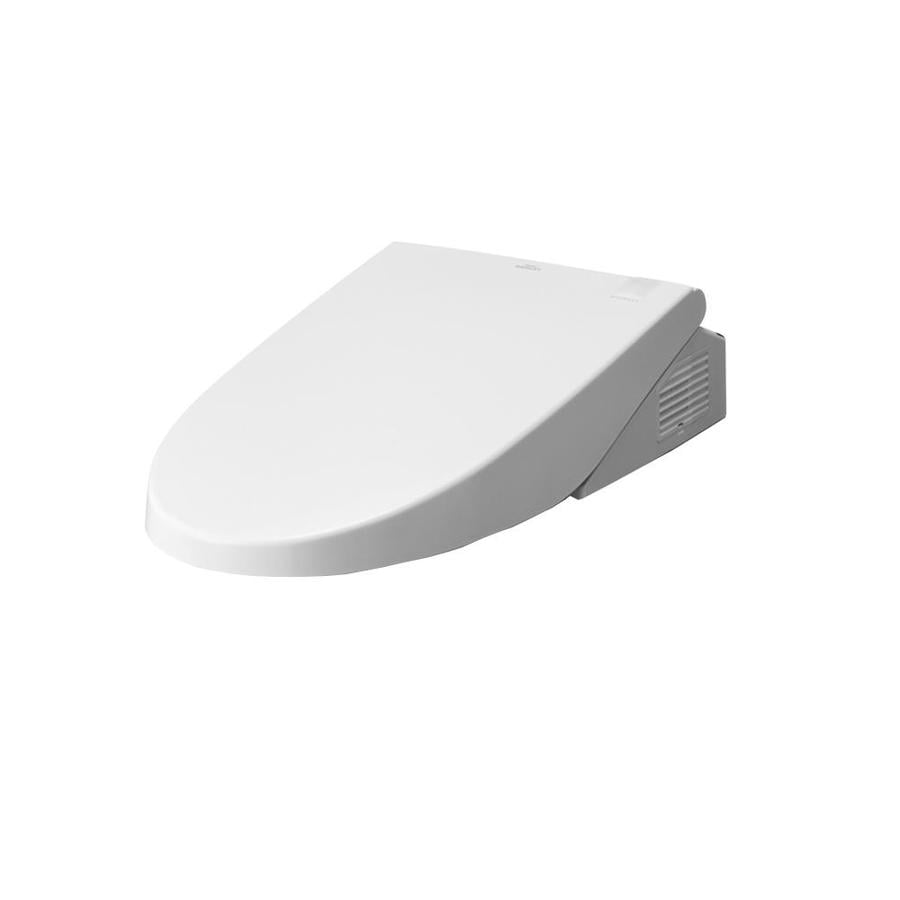 TOTO Cotton White Toilet-Mounted Bidet