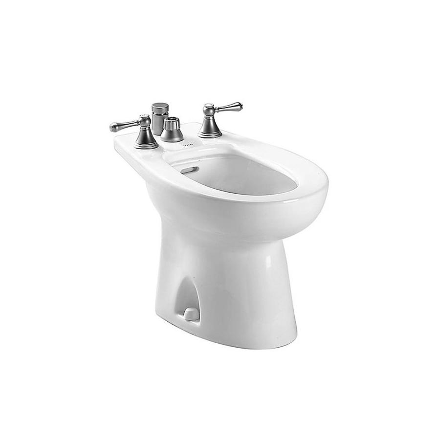 TOTO Piedmont 15-in H Cotton White Elongated Bidet