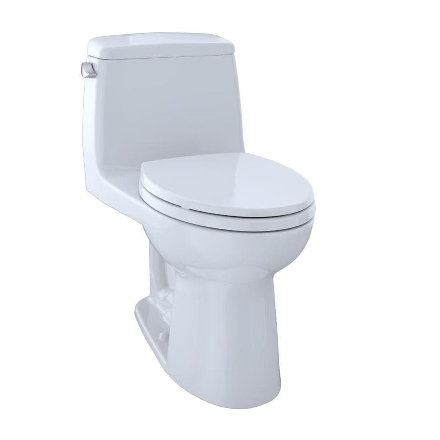 TOTO Ultramax Cotton White 1.6-GPF (6.06-LPF) 12 Rough-In Elongated 1-Piece Standard Height Toilet