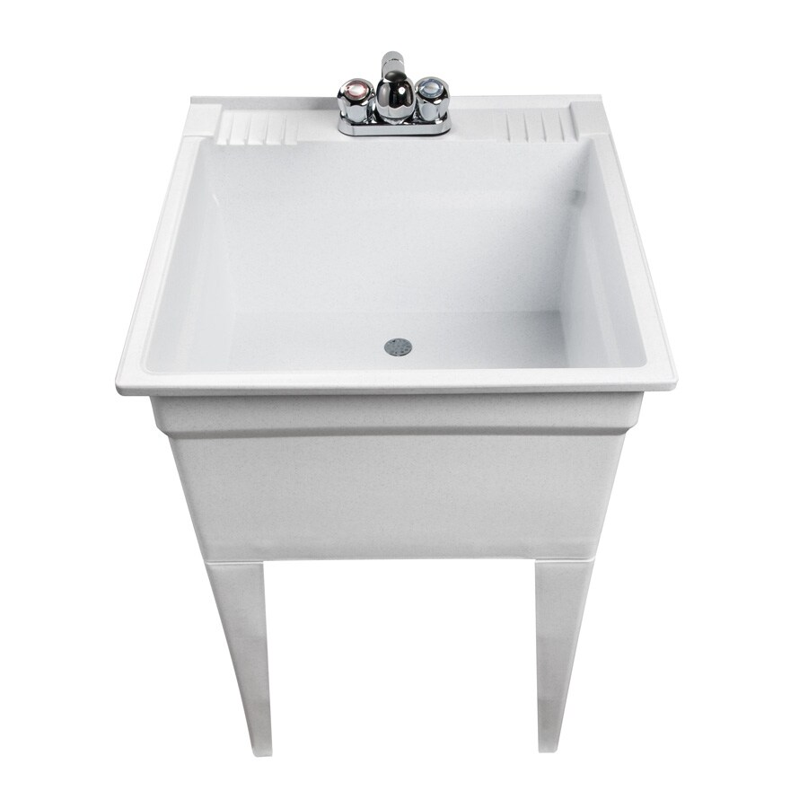 Laundry Tub Lowes : Shop ASB White Granite Freestanding Composite Utility Tub at Lowes.com