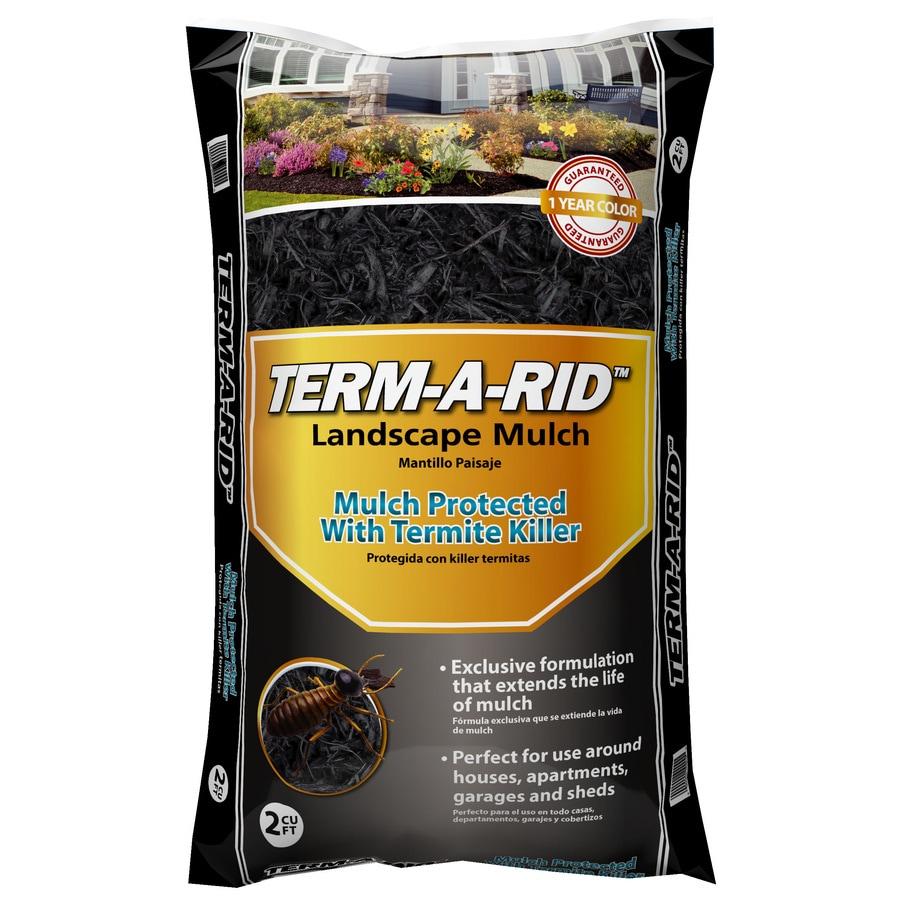 Term-A-Rid 2-cu ft Black Hardwood Mulch