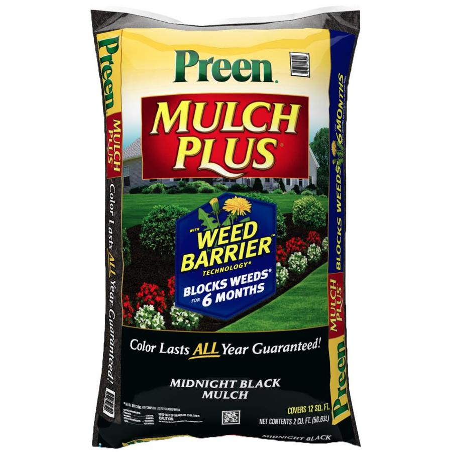 Preen 2-cu ft Black Hardwood Mulch