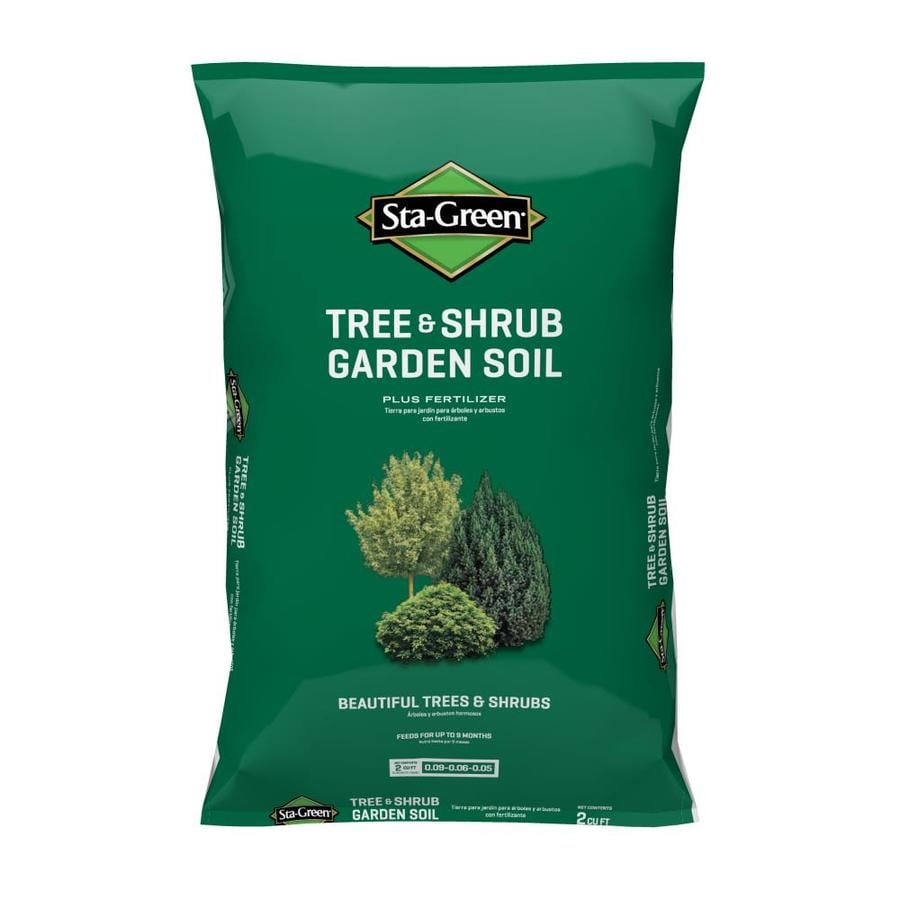 Shop sta green 2 cu ft tree and shrub garden soil at for Soil and green