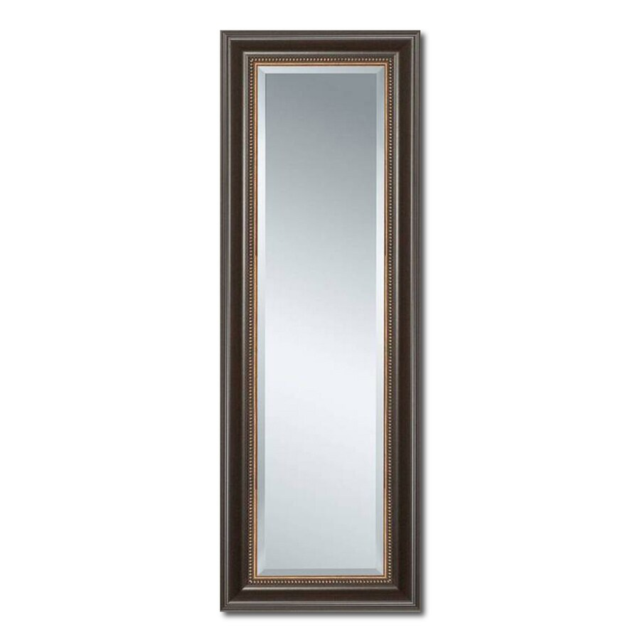 Style Selections 27-in x 68-in Cherry Beveled Rectangle Framed French Floor Mirror