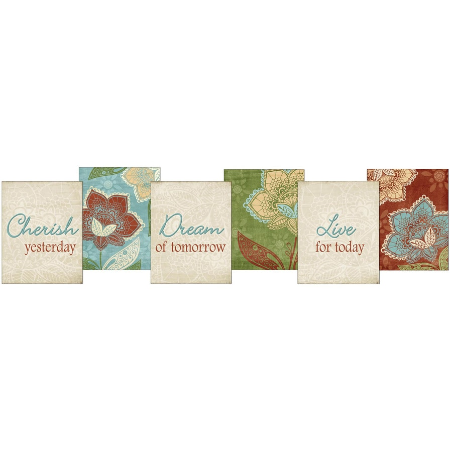 6-in W x 23-in H Inspirational Prints Wall Art