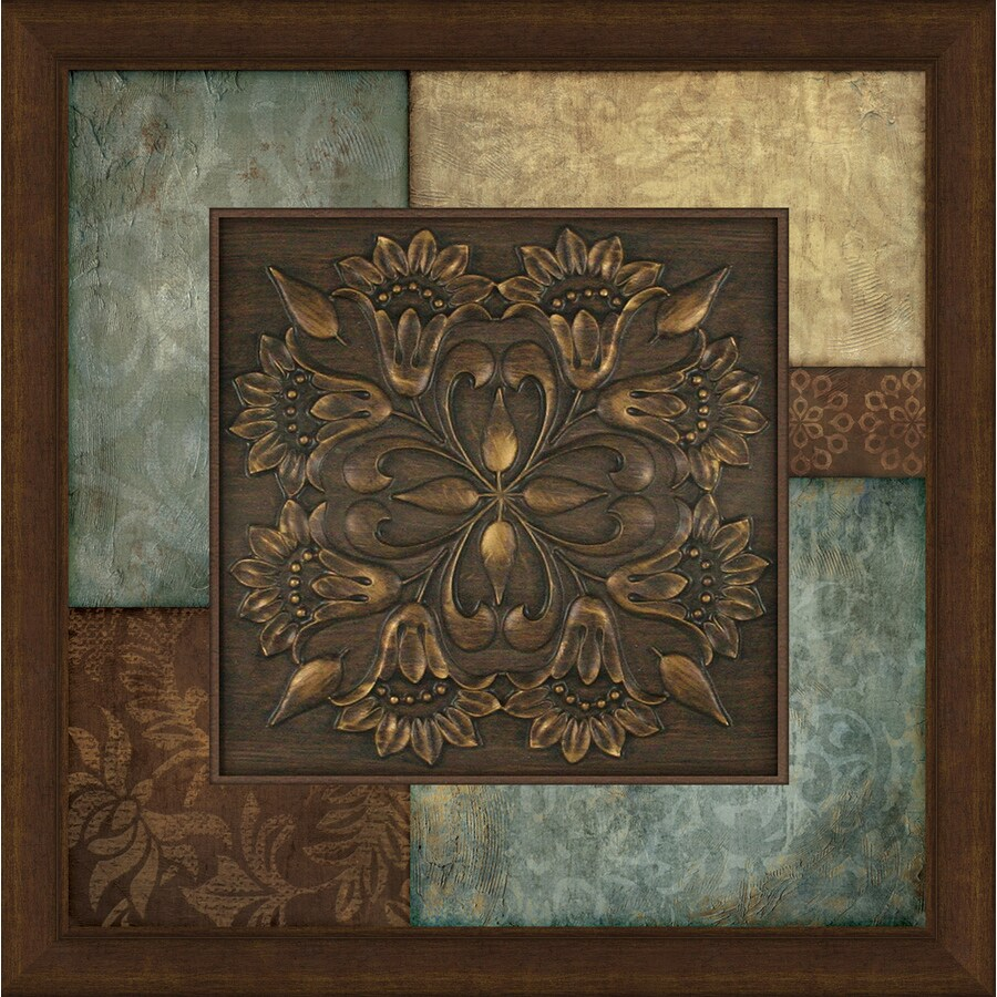 Shop 27 in w x 27 in h abstract prints wall art at lowescom for Kitchen cabinets lowes with wall art sculpture designs