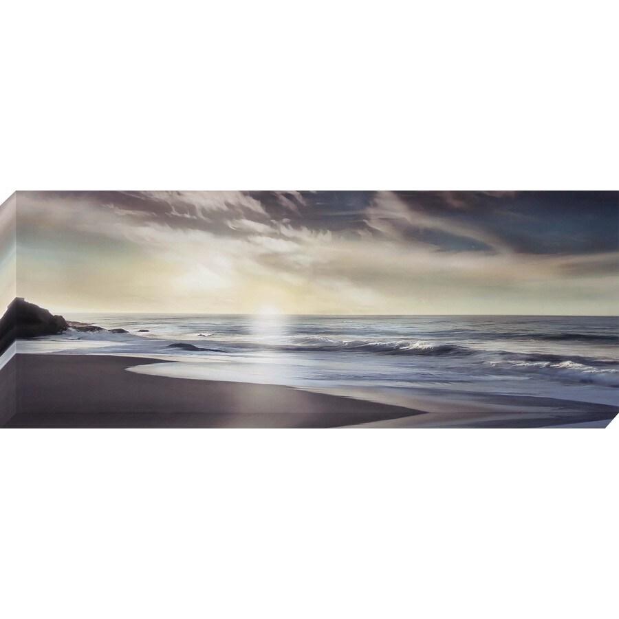 37-in W x 14-in H Frameless Canvas Coastal Print Wall Art