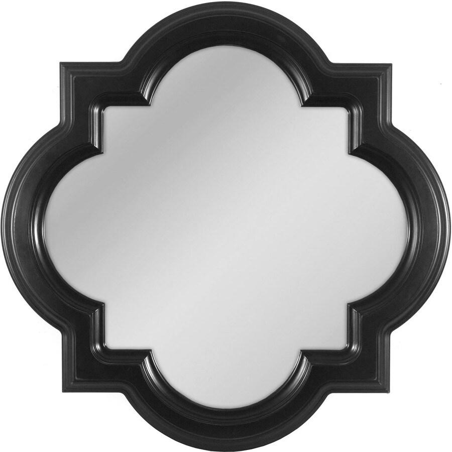 allen + roth Black Framed Wall Mirror