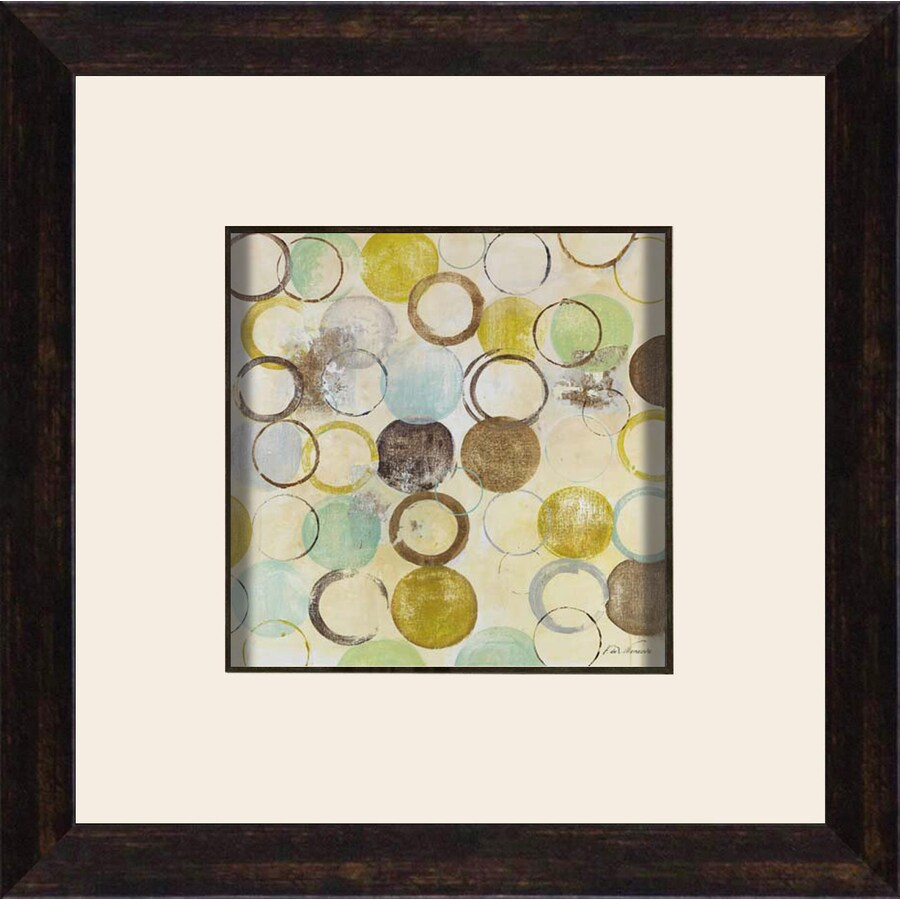 12-in W x 12-in H Abstract Framed Art