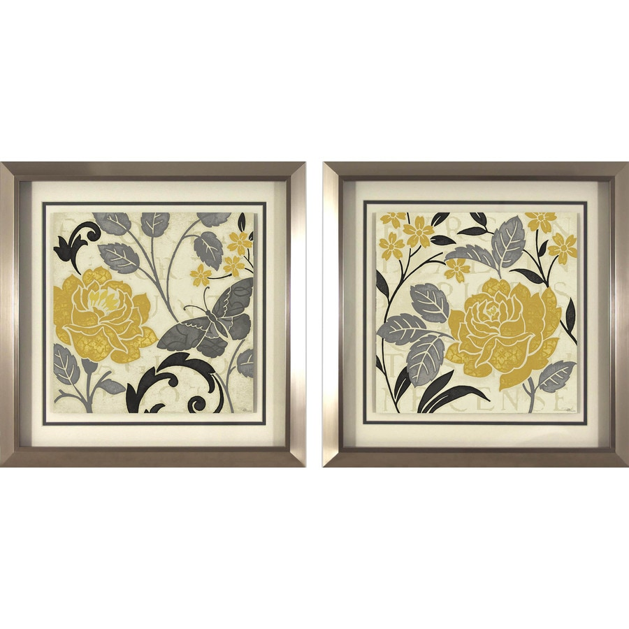 18-in W x 18-in H Floral Prints Wall Art