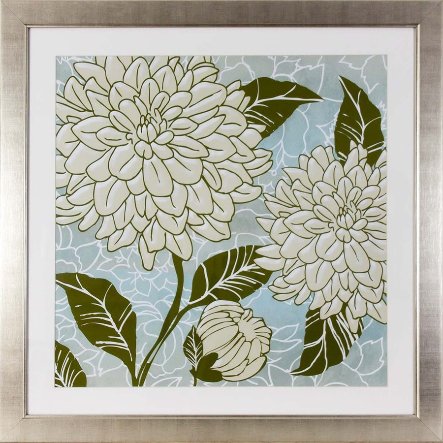 30-in W x 30-in H Floral Framed Art
