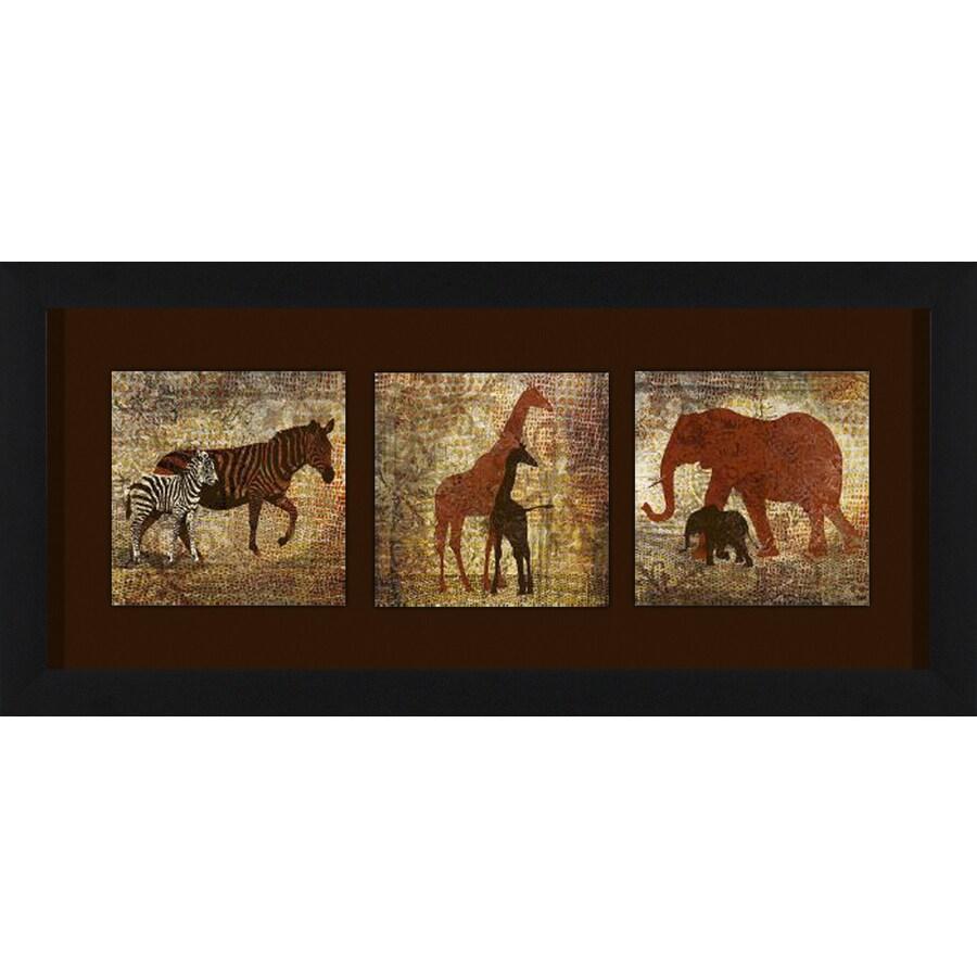 26-in W x 12-in H Framed Animals Wall Art
