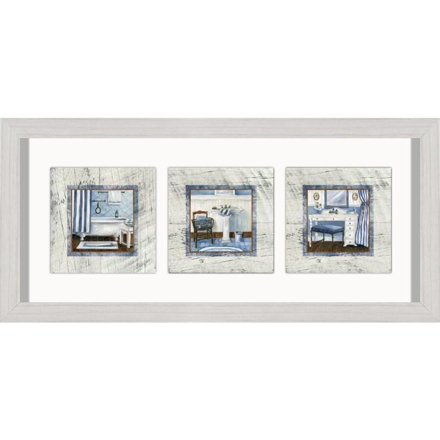 26-in W x 12-in H Framed Bath Wall Art