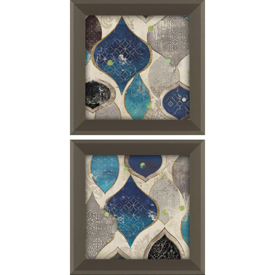 2-Piece 12-in W x 12-in H Framed Abstract Wall Art