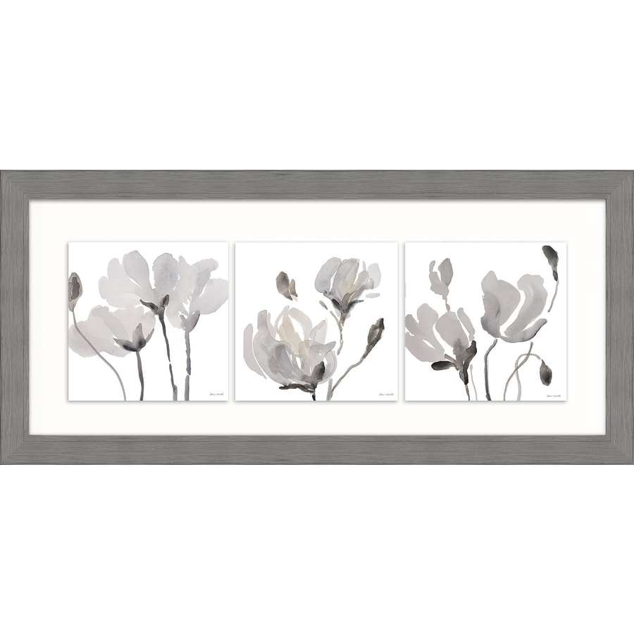 Shop 26 in w x 12 in h framed plastic floral print wall for Kitchen cabinets lowes with wall print art