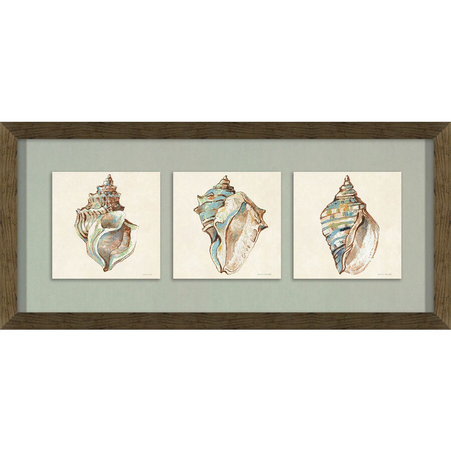 26-in W x 12-in H Framed Plastic Abstract Prints Wall Art