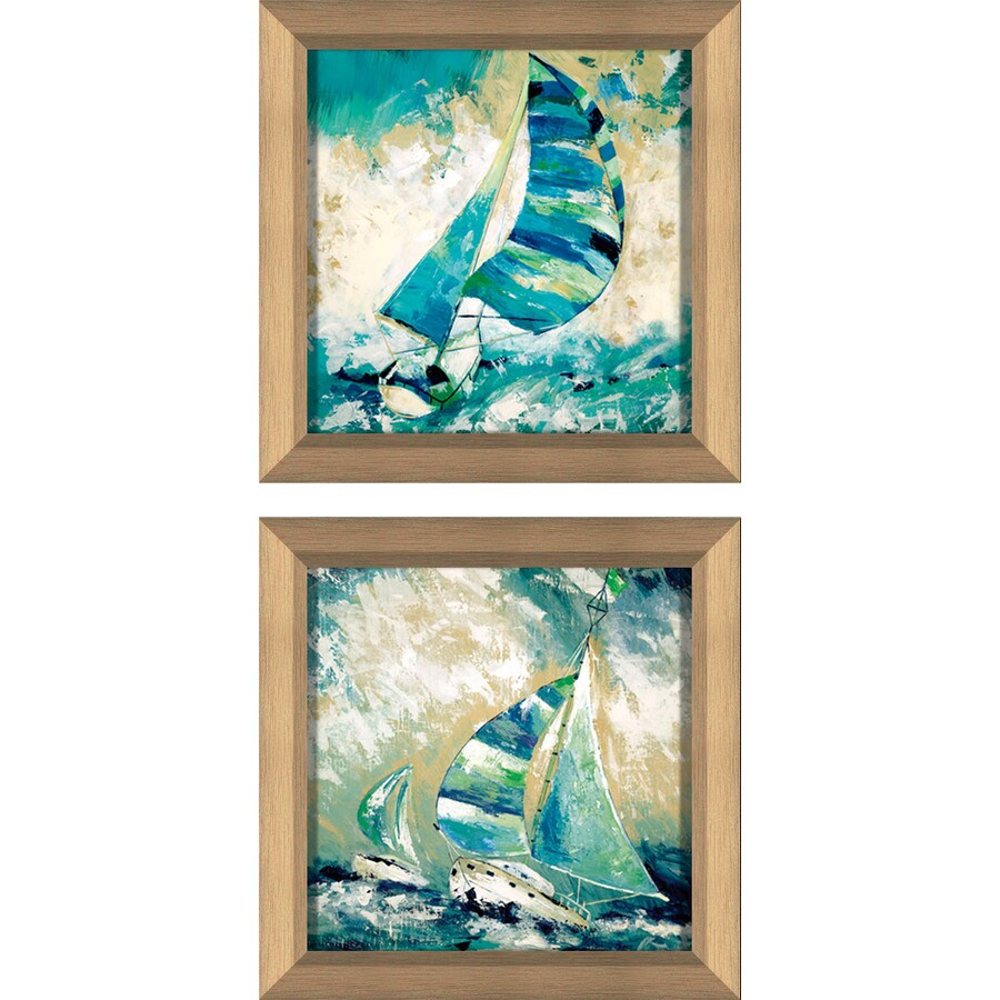 2-Piece 12-in W x 12-in H Framed Plastic Landscapes Prints Wall Art