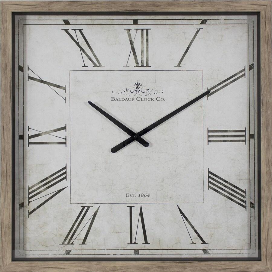 Analog Square Indoor Wall Standard Clock