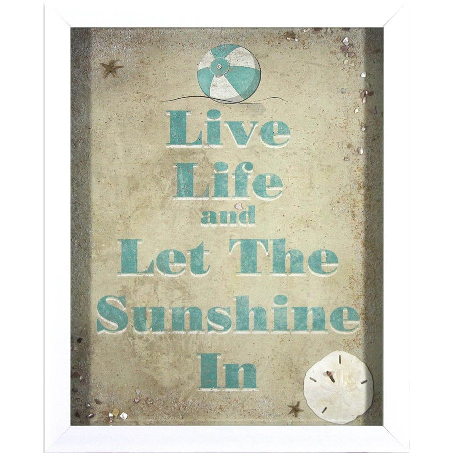 17-in W x 21-in H Framed Plastic Inspirational Prints Wall Art